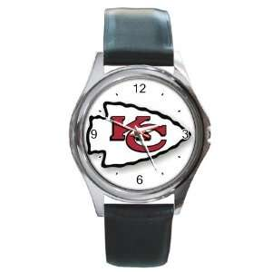 NFL Kansas City Chiefs Graphic Logo Round Metal Watch