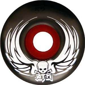 ATM Two Tone Black and Red Skateboard Wheels (53mm