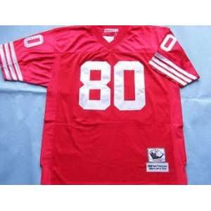 Jerseys? San Francisco 49ers #80 Rice Red Throwback Football Jersey