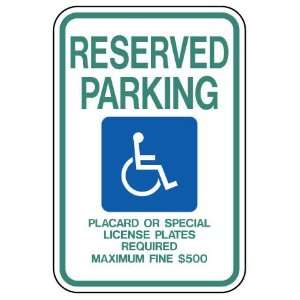 Metal traffic Sign 12x18 Hawaii   Handicapped Parking