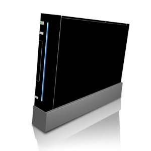 Solid State Black Design Skin Decal Sticker for Nintendo Wii