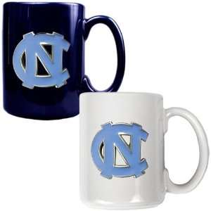 North Carolina Tar Heels   NCAA 2pc Ceramic Mug Set