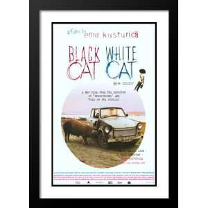 Black Cat, White Cat 20x26 Framed and Double Matted Movie