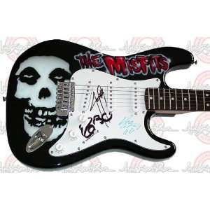 THE MISFITS Autographed Signed AIRBRUSH Guitar PROOF