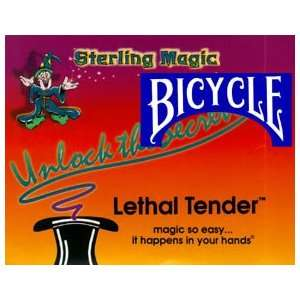 Lethal Tender Half w/ Bicycle Card Magic Tricks Dollars