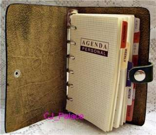 Leather Diary Daily Planner Organizer Agenda NoteBook Appointment