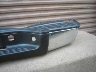 GMC SIERRA CHEVY SILVERADO REAR CHROME BUMPER OEM 07 09