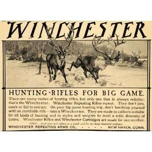 Hunting Rifles Big Game Deer Bucks   Original Print Ad