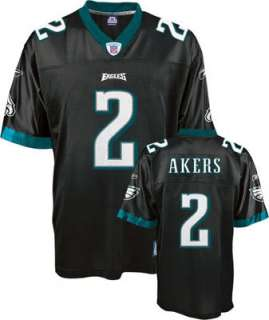 Philadelphia Eagles #2 David Akers Black Throwback Football Jersey New