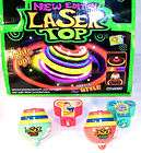 NEON LASER SPINNING TOPS novelty play toy top lights