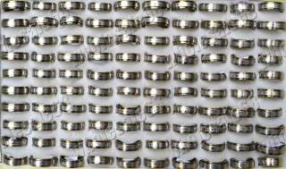 Jewelry wholesale lots 50pcs stainless steel mens Rings new fashion